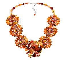 Rara Avis by Iris Apfel Beaded Flower Station Necklace