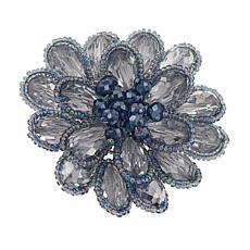 Rara Avis by Iris Apfel Beaded Stone Floral Brooch