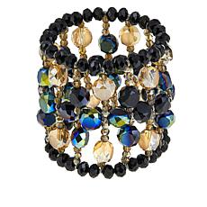 Rara Avis by Iris Apfel Black Beaded Stretch Bracelet