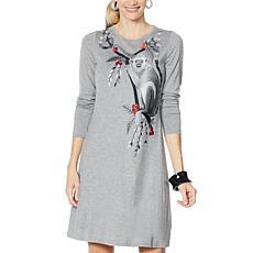 Rara Avis by Iris Apfel Embroidered Knit Dress