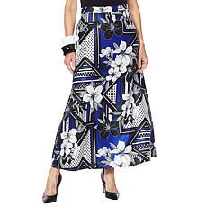 Rara Avis by Iris Apfel Floral Print Maxi Skirt