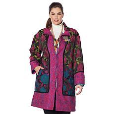Rara Avis by Iris Apfel Jacquard Woven Coat