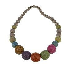 "Rara Avis by Iris Apfel Recycled Paper Bead 32"" Long Necklace"