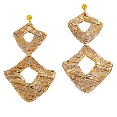 "Rara Avis by Iris Apfel Recycled ""Papier Mache"" Drop Earrings"