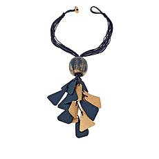 "Rara Avis by Iris Apfel Recylced Paper Metallic 19"" Drop Necklace"