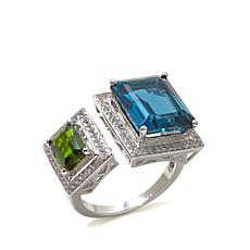 Rarities 8.42ctw London Blue Topaz & Gemstone Ring