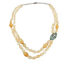 Rarities Citrine 2-Strand Necklace with Multigem Station