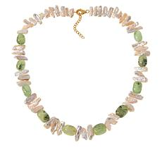 "Rarities Cultured Keshi Pearl and Gemstone 22"" Necklace"