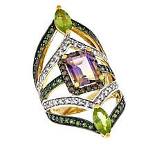 Rarities: Fine Jewelry with Carol Brodie 4.41ctw Multigem Vermeil Ring