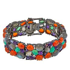 "Rarities: Fine Jewelry with Carol Brodie Multigem 7-1/2"" Bracelet"