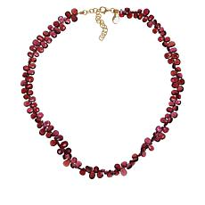 Rarities Garnet Pear-Shaped Bead Necklace