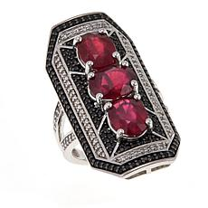 Rarities Gemstone Art Deco Elongated Rectangular Ring