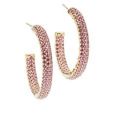 Rarities Gemstone Inside/Outside Hoop Earrings