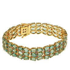Rarities Gold-Plated Green Kyanite and Pink Sapphire Bracelet