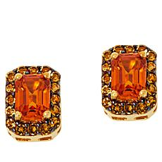 Rarities Gold-Plated Orange Sapphire and Citrine Stud Earrings