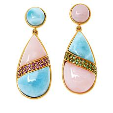 Rarities Gold-Plated Sterling Silver Multigemstone Mismatched Earrings