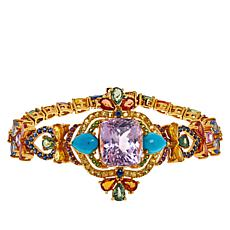 Rarities Goldtone Kunzite Station and Multi-Gemstone Bracelet