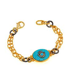 Rarities Kingman Turquoise Bracelet -Choice of Talisman