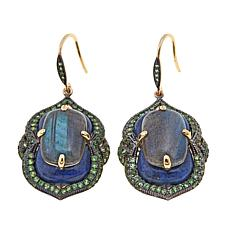 Rarities Labradorite and Gem Vermeil Wire Drop Earrings
