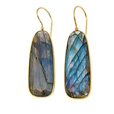 Rarities Labradorite Rectangular Drop Earrings