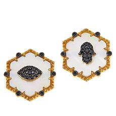 Rarities Mother-of-Pearl and Multi-Gem Mis-Matched Earrings