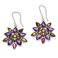 Rarities Multi-Tourmaline, Amethyst and White Zircon Drop Earrings