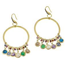 Rarities Multigem Beaded Circular Drop Earrings