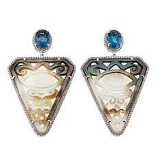 Rarities Multigem Evil Eye Shield-Design Drop Earrings