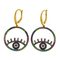 Rarities Multigem Evil Eye Talisman Drop Earrings