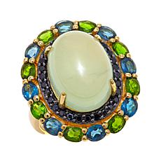 Rarities Multigemstone Flower-Design Vermeil Ring