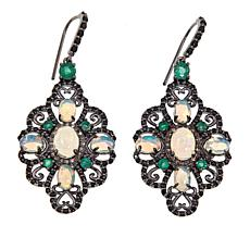 Rarities Multigemstone Scalloped-Edge Drop Earrings