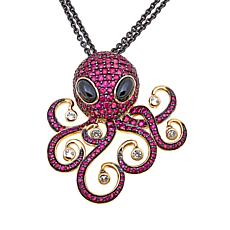 Rarities Ruby & Gemstone Octopus Double-Chain Necklace