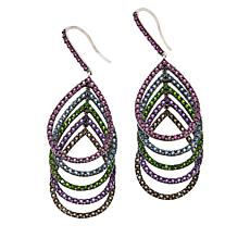 Rarities Sterling Silver Multigemstone Cascading Teardrop Earrings