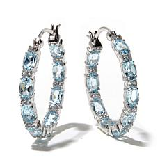 Ravenna Gems Gemstone Inside-Outside Hoop Earrings