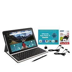 "RCA 10"" HD Quad-Core Tablet with SD Card and Folio Keyboard"