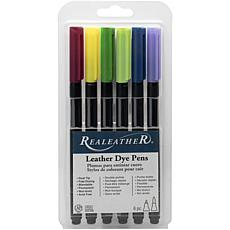 Realeather Crafts Leather Markers, 6 Piece - Landscape