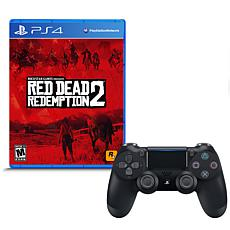 """""""Red Dead Redemption 2"""" Game for PS4 w/DualShock 4 Wireless Controller"""