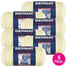 Red Heart Super Saver Yarn 6-pack - Natural