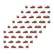 Red Trucks Hardboard Placemat Set of 6