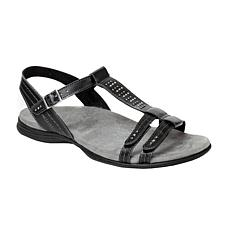 Revitalign Flora T-Bar Full Grain Leather Sandal