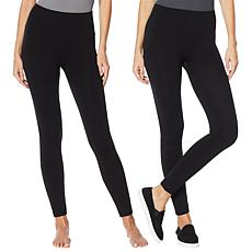 Rhonda Shear 2-pack Fleece Lined Legging - Petite