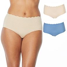 Rhonda Shear 2-pack Striped Body Brief