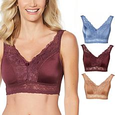 "Rhonda Shear 3-pack ""Betty"" Pin Up Bra with Pads and Back Closure"