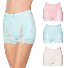 Rhonda Shear 3-pack Pinup Panty with Lace Trim