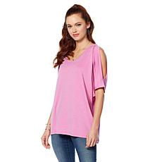 Rhonda Shear Ahh Dreams Open Back Dolman Top
