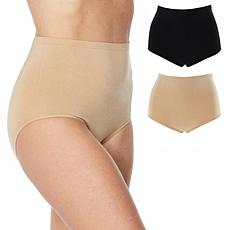 "Rhonda Shear ""Perfect Match"" 2-pack Moisture-Wicking High-Waist Brief"