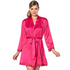 Rhonda Shear Satin and Lace Robe