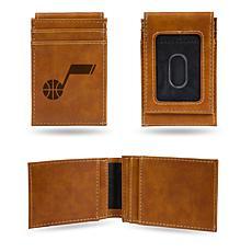 Rico Jazz Laser-Engraved Brown Front Pocket Wallet