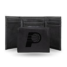 Rico Laser-Engraved Black Tri-fold Wallet - Pacers