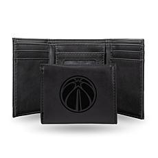 Rico Laser-Engraved Black Tri-fold Wallet - Wizards